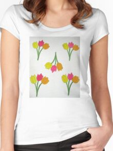 Happy Tulips Women's Fitted Scoop T-Shirt