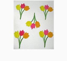 Happy Tulips Womens Fitted T-Shirt