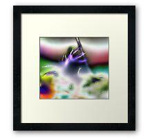 Alien Trumpet Player Framed Print