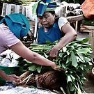 Traditional Markets - Binding Vegetable by Komang