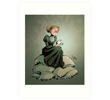 Marie Curie and the Radium. Art Print