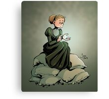 Marie Curie and the Radium. Canvas Print