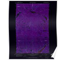 USGS Topo Map Washington State WA Aladdin Mtn 239766 1967 24000 Inverted Poster