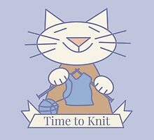 Time to Knit Cat by Sue Cervenka