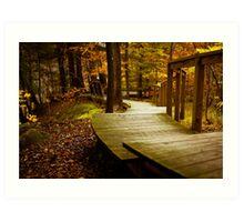 Autumn Path Art Print