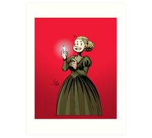 Marie Curie and the Radium 2. Art Print