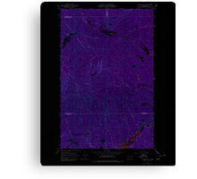 USGS Topo Map Washington State WA Aladdin Mtn 239765 1967 24000 Inverted Canvas Print