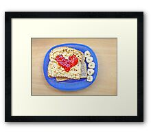 Heart of Strawberry Jelly PBJ Sandwich Framed Print