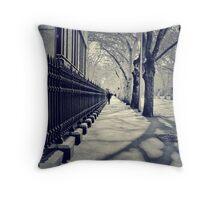 Silent Street Throw Pillow