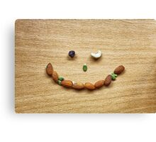 Winking smile face of Mixed Nuts Canvas Print