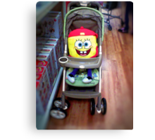 Character in a Stroller Canvas Print