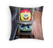 Character in a Stroller Throw Pillow