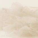 Lace And Ruffles Tablecoth In Sepia by Sandra Foster