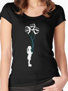 mr robot - girl/revolution Women's Fitted Scoop T-Shirt