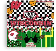 UNIVERSITY OF WISCONSIN COLLAGE Canvas Print