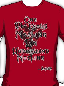 Kingdom Hearts: Ansem quote T-Shirt