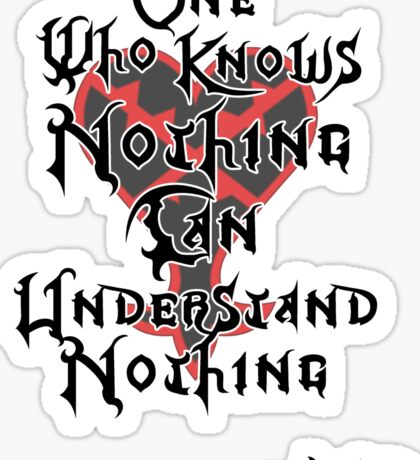 Kingdom Hearts: Ansem quote Sticker