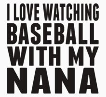 I Love Watching Baseball With My Nana One Piece - Long Sleeve