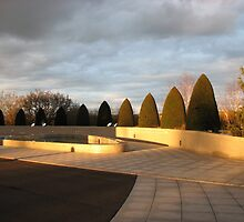 Golden Sunset - Preston Temple Forecourt by Kathryn Jones