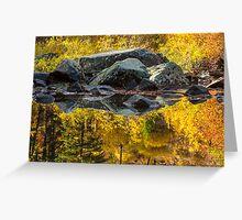 Autumn Reflections on the Wenatchee River, Washington Greeting Card