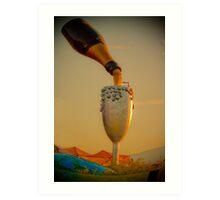 champagne in the sky  Art Print