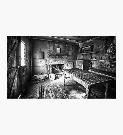 Inside Edmonson's Hut Photographic Print