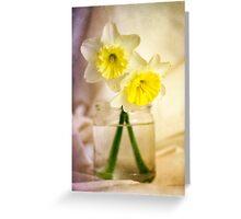 Two Daffodils Greeting Card