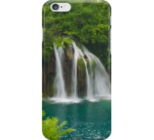 Scenic waterfall and turquoise water. iPhone Case/Skin
