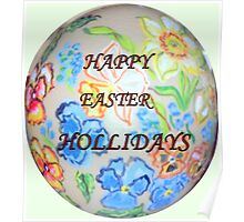 Happy Easter Hollidays Poster