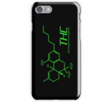 THC Molecule iPhone Case - Black, Green iPhone Case/Skin