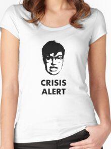 Garret Crisis Alert  Women's Fitted Scoop T-Shirt