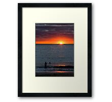 """Post Storm Sunset"" - Fremantle, W.A. Framed Print"