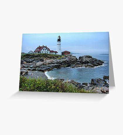 Maine Morning At Portland Head Light Greeting Card