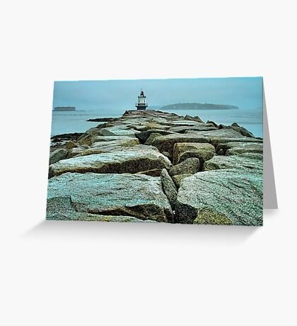 Spring Point Light Greeting Card