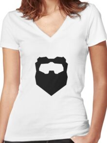 Troy & Abed Evil Moustache Women's Fitted V-Neck T-Shirt
