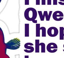 qwerty Sticker