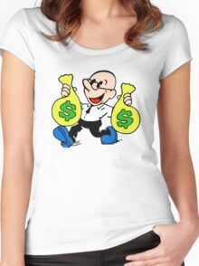 Community Dean with Money Women's Fitted Scoop T-Shirt