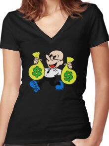Community Dean with Money Women's Fitted V-Neck T-Shirt