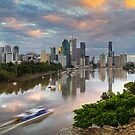 Sunrise on the Brisbane River by Jennifer Bailey