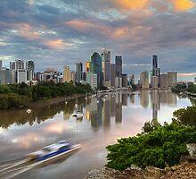 Sunrise on the Brisbane River by Jennifer Bailey