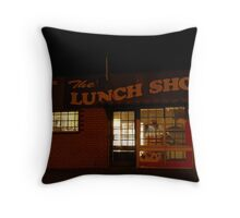 The Lunch Shop Throw Pillow