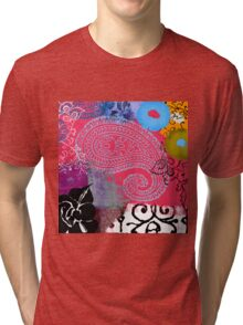 Bali III Abstract Fine Art Collage Tri-blend T-Shirt