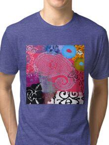 Bali III Abstract Fine Art Collage Tri-blend T-Shirt