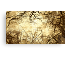 Woods Oil Painting Canvas Print