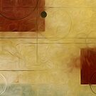 Squares Circles Lines Oil Painting 1 by Fred Seghetti