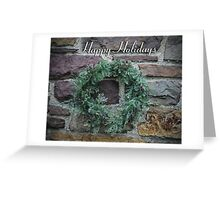 Happy Holidays! (with wreath) Greeting Card