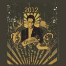 Obama 2012 T-shirt by Shanina Conway