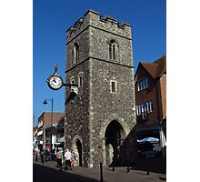 Clock Tower, Canterbury Photographic Print