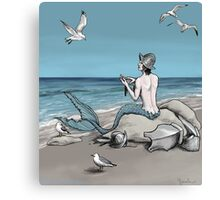 Merman with Armour Canvas Print