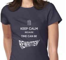 Time can be rewritten Womens Fitted T-Shirt